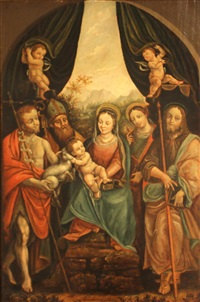 the madonna and christ child with saints by bernardino lanino
