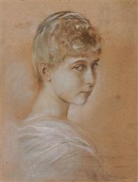 portrait victoria (von preußen), prinzessin von schaumburg-lippe (1866-1929) by franz seraph von lenbach