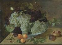 traubenteller mit pfirsichzweigen by isaac soreau