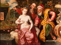susanna mit den alten by master of the prodigal son