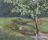 river landscape by edmund wyly (sir) grier