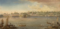 a sculling race along the lake shore by florence m. rogers