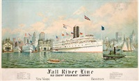 fall river line - old colony steamship company by fred pansing