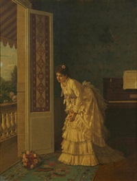 the surprise bouquet by auguste toulmouche
