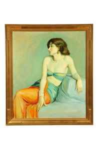 portrait of lady by leon kroll