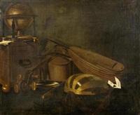 stilleben mit globus und musikinstrumenten by evaristo baschenis
