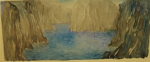 landscape with river and rocks by augustus vincent tack