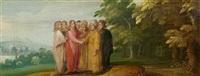 vier biblische darstellungen aus dem neuen testament (4 works) by frans francken the younger