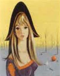 young woman by jean-pierre serrier