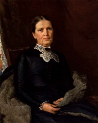 portrait of a lady in black by john wycliffe lewis forster