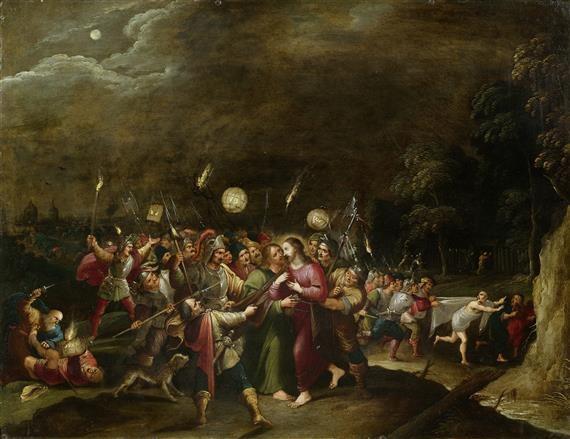 garten getsemani judaskuss gefangennahme und ergreifung christi by hieronymus francken iii