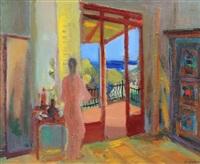 weiblicher akt im balkonzimmer by werner hartmann