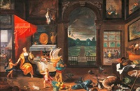 allegorie des geschmacksinnes (collab. w/peter casteels) by ferdinand van kessel