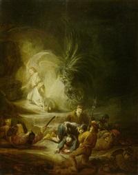der engel der auferstehung erscheint den wächtern am grabe christi by benjamin gerritsz cuyp