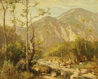 eaton canyon near pasadena by benjamin chambers brown