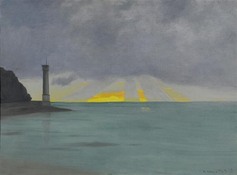 le phare soir by félix edouard vallotton