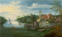 river landscape with jetty by jan brueghel the younger