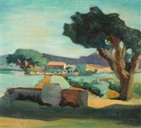 landschaft in der toscana by werner hartmann