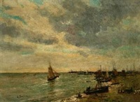 一帆风顺 by alfred théodore joseph bastien