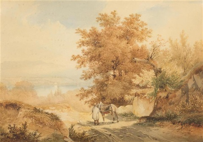 vue de prégny, depuis le plateau de frontenex by alexandre calame