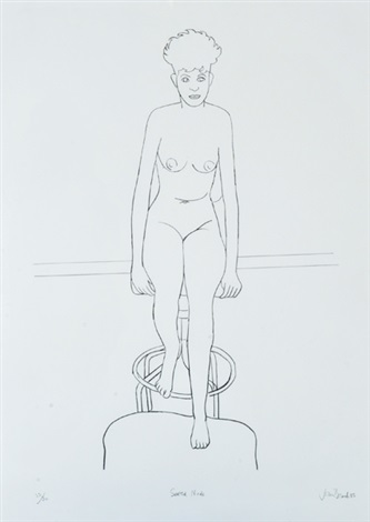 seated nude by john brack