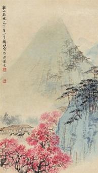 韶山春晓 立轴 设色纸本 by qian songyan