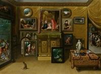 interieur eines sammlers by hieronymus francken the younger