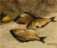鱼与柠檬 by alfred théodore joseph bastien