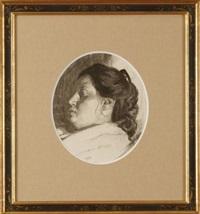 portrait of a woman by daniel garber