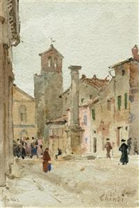 chinsi kirchplatz by albert anker