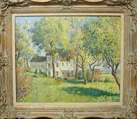 country landscape with house by clarence w. snyder