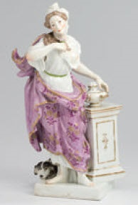 figur (after model by meissen) by maison samson (co.)
