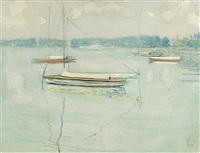 segelschiffe auf dem thunersee by cuno amiet