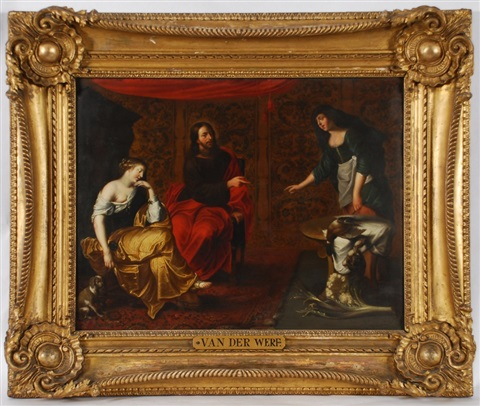 le christ chez marthe et marie by willem van herp the elder