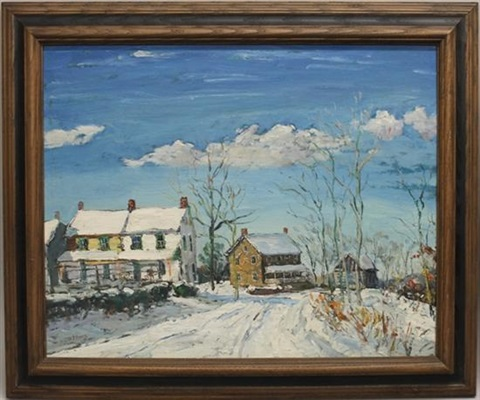 winter landscape by walter emerson baum