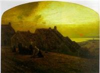 paysage breton au crépuscule by jean remond