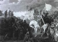 rudolph i von habsburg besiegt seinen wiedersacher ottokar ii von boehmen by georg zacharia