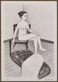 seated nude i by john brack