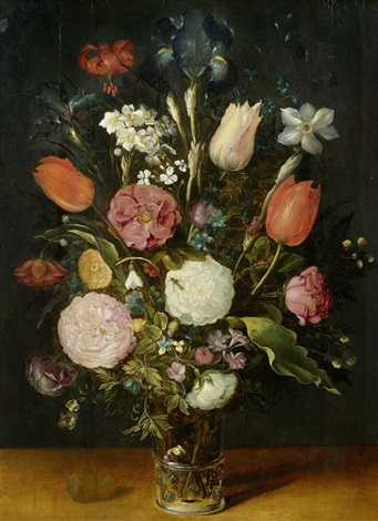 blumenstillleben in einer vase by jan brueghel the younger