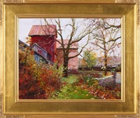 autumn at prallsville mill by dot bunn