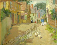 ducks walking through town by mary nicholena maccord