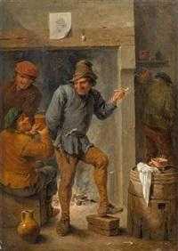 trinkende und rauchende männer in einer schenke by david teniers the younger
