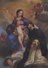 madonna mit dem kind und dem hl. dominikus by mateo cerezo