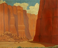 riders in canyon de chelly (pair) by g. barry atwater