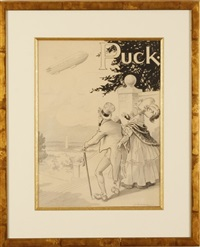 puck magazine illustration by l.m. glackens
