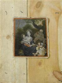 trompe-l'oeil mit rast auf der flucht nach ägypten by ottmar elliger the elder
