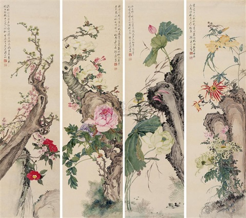 flowers 4 works by tang shishu