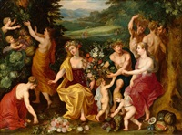 homage to flora – allegory of fruitfulness by jan brueghel the younger and jan van balen