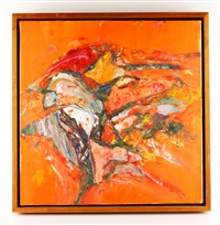 orange abstract by bernard chaet