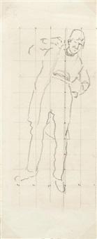 kompositionsstudie der jenenser studenten in den freiheitskrieg by ferdinand hodler